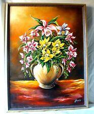 Tolles Ölgemälde Blumenstillleben sig.und Dat.A.Jeliczek 91 öl auf Leinwand