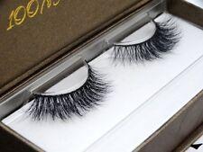 New Arrival Hot 3D 100% Real Mink False eyelashes Cross Winged Eye Lashes 1 Pair
