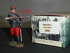 King and Country FW68 francese Drum Major WWI Figura Metallo Giocattolo Soldato
