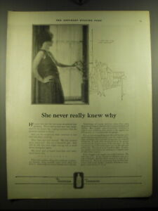 1923 Listerine Antiseptic Ad - She never really knew why