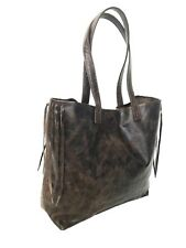 Large Distressed Brown Leather Tote Bag,rustic and Unlined Purse, Handbag Lily