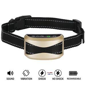 Pet Dog Waterproof Rechargeable Anti Bark Collar Vibration Stop Barking Training