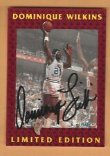DOMINIQUE WILKINS 1992 FLEER  LIMITED EDITION AUTOGRAPH CARD #6 OF 12