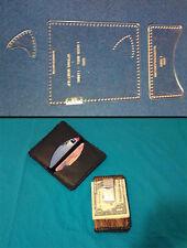 2 POCKET CARD CASE -  W/GUITAR PICK HOLDER - TEMPLATE SET FOR LEATHER CRAFT