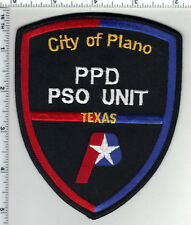 City of Plano Police (Texas) 1st Issue PPD PSO Unit Shoulder Patch