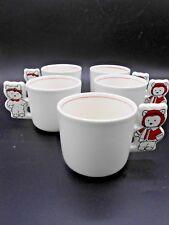 5 Vintage Dayton Hudson Santa Bear Childs Christmas Cup Mug 1987 Dayton's Japan