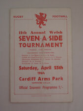 Welsh Seven-A-Side Tournament 1964 Neath beat Cardiff  Rugby Union Programme