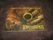 Lord Of The Rings Fellowship Of The Ring Oscar booklet Frodo, Samwise, Aragorn