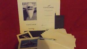 Concorde flight seat back pack faux leather folder sealed / unopened memorabilia