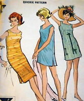 LOVELY VTG 1960s DRESS McCALLS Sewing Pattern SMALL