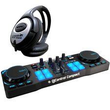 Hercules djcontrol unidades Compact USB DJ Controller + KEEPDRUM auriculares