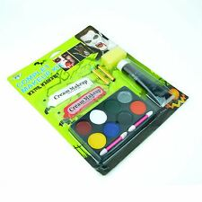 Halloween Complete Make up Kit Body Face Paint Zombie Scary Party Fake Blood