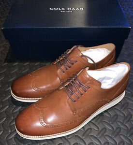 Cole Haan Woodbury Ivory Leather Original Grand Oxford Wingtip Size 10.5 NEW