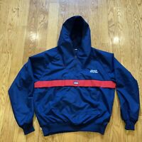 Vintage Mount Holyoke Pullover Hooded Windbreaker Jacket With Pockets Size Med