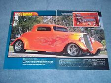 "1933 Ford 3-Window Coupe Street Rod Article ""Flat-Out Flamed"""