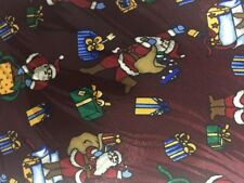 Keith Daniels Holiday Xmas Tie Santa Gifts Burgundy White Red Novelty