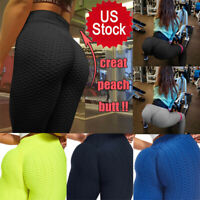 Women Push Up Leggings Yoga Pants Anti Cellulite Sports Ruched Scrunch Trousers
