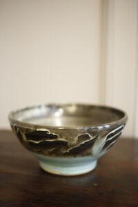 20th Century Blue glazed studio pottery bowl