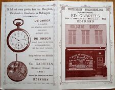 Swiss Watchmaker 1900 Advertising Booklet w/Omega Pocketwatch - Edingen, Belgium