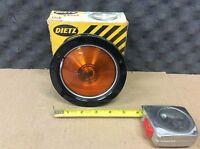R. E. Dietz Co. NOS AMBER Plastic Lens  TRUCK TRAILER OR RAT ROD P/N: 4-91004
