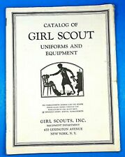 Girl Scout Catalog 1930's Vintage Uniforms and Equipment Book Official