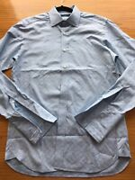 TED BAKER POWDER BLUE BUTTON DOWN LONG SLEEVE SHIRT 15 French Cuff