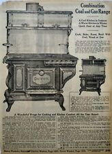 1917 Antique Criterion Gas Coal Range Art Sears Catalog Page Vintage Print Ad