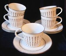 Noritake Lancelot Cups & Saucers - Set of 5 - #6536 - Mid Century Modern - Japan