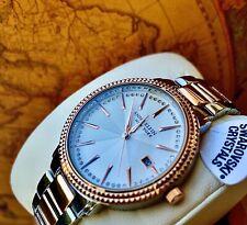 Original Anne Klein 36mm CrystalAccent RoseGold Tone Women Bracelet Band Watch