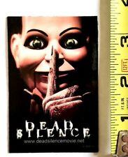 RARE 2007 DEAD SILENCE MOVIE PROMO MAGNET JAMES WAN DONNIE WAHLBERG HORROR FILM