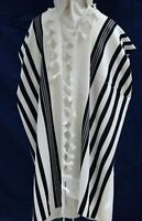 TALLIT KOSHER Talit / Tallis 100% Pure Wool Israel Adults / Bar Mitzvah 55