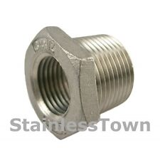 """Stainless Pipe Bushing 3/4"""" x 1/2"""" Type 304"""