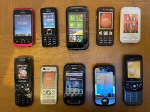 10 x Retro Dummy Mobile Phones Job Lot Nokia Samsung Sony Ericsson Huawei HTC LG