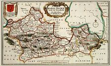 MAP 17TH CENTURY HOLLAR BERKSHIRE COUNTY ENGLAND REPLICA POSTER PRINT PAM0245