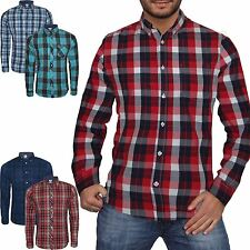 Long Sleeve Check Collared NEXT Casual Shirts & Tops for Men