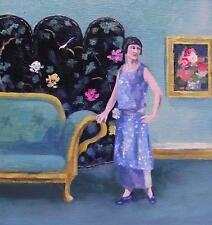 Les chinois écran: nostalgique original oil painting by Wendy Warwick