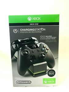 PowerA Xbox One Charging Station For Xbox Remote W/Rechargeable Battery- Black
