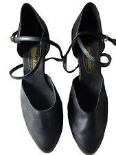 Featherlite Black Leather Ballroom Dance Shoes Carol Women 11.5M