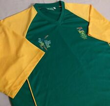 ICC Cricket World Cup Polyester Shirt South Africa Green/Yellow Large (L)