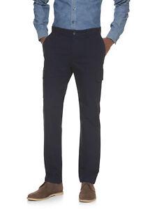 Banana Republic Hommes Aiden Slim Fit Pantalon Cargo 34 x 34 Nwt Bleu Plat Avant