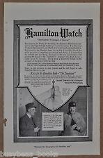 1914 HAMILTON WATCH advertisement, Railroad Pocket Watch, CM&St P conductor
