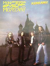 METALLICA in Moscow Centerfold magazine POSTER  17x11 inches