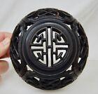 Antique Chinese Carved Wood Ginger Jar Lid - 82458