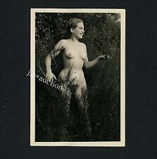 #273 RÖSSLER AKTFOTO / NUDE WOMAN STUDY * Vintage 1950s Outdoors Photo - no PC !