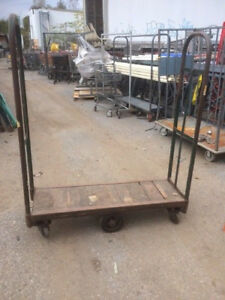 U Boat Stock CARTS Used 4' Grocery Store Stocking Metal Wood Cart INDUSTRIAL