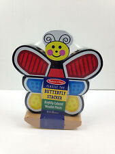 NEW Melissa & Doug Butterfly Stacker Toy Wooden 18+ Mo's Free Shipping