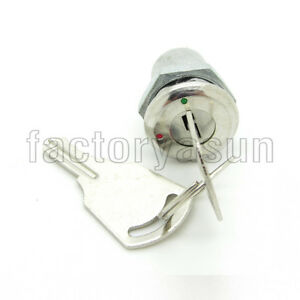 """12mm 0.47"""" Mini Lock Key Switch 2 Positions ON-OFF With 2 Keys 1A"""
