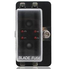 4 Way Blade Fuse Box Holder LED Warning Light for Car Truck Boat Marine 10-32V