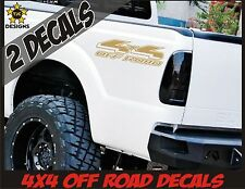 4x4 Truck Bed Decals METALLIC GOLD Set for Ford F150, Super Duty F-250, Ranger