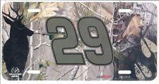 KEVIN HARVICK #29 REALTREE CAMO METAL LICENSE PLATE NEW!!!!!!